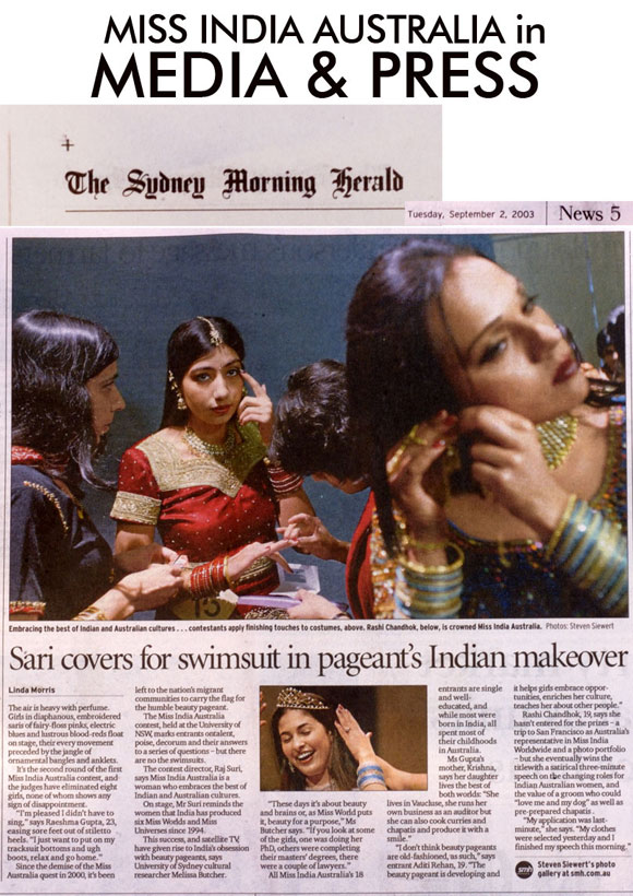Miss India Australia in Press and Media