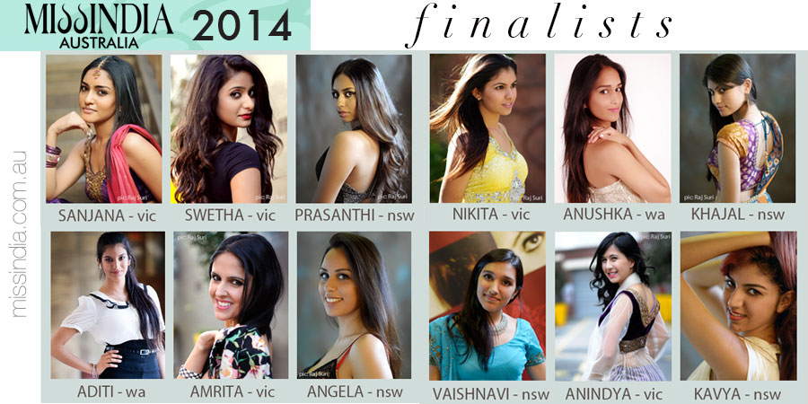 Raj Suri Miss India Australia 2014 Talent Search Finalists