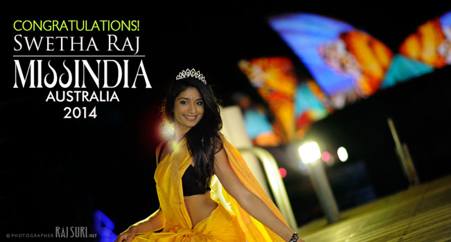 Miss India Australia 2014 is Swetha Raj