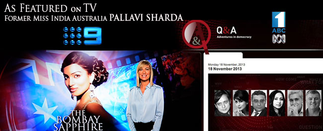 Pallavi Sharda, former Miss India Australia, on Australian TV