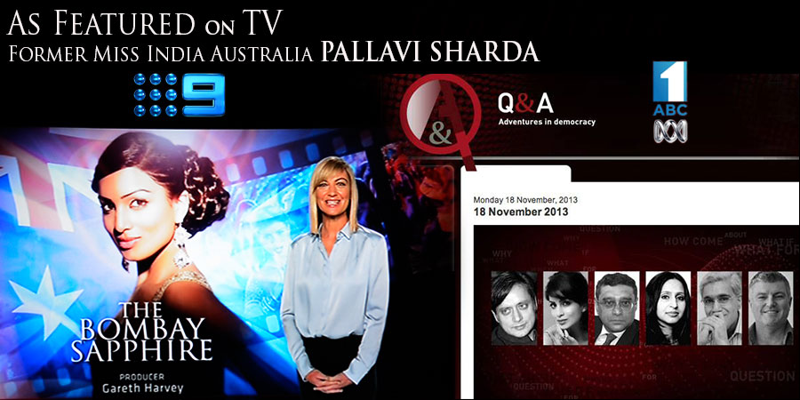 Pallavi Sharda, former Miss India Australia (2010), on Australian TV