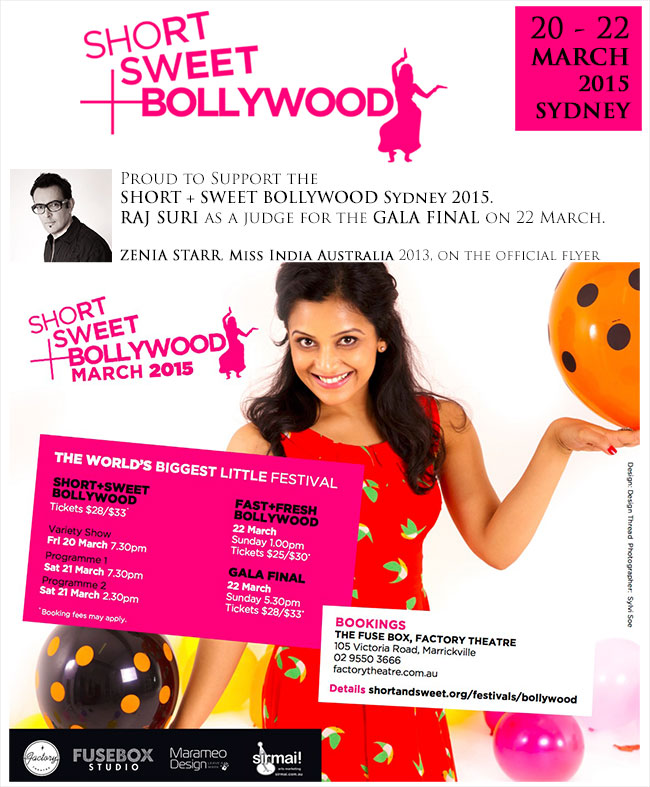 ZENIA STARR - Miss India Australia 2013 winner on the official flyer