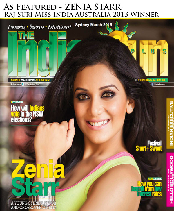 Zenia Starr - winner Raj Suri Miss India Australia 2013 - Indian Sun