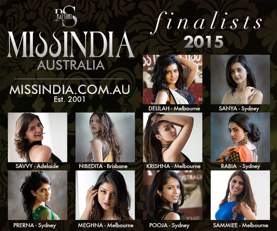 Miss India Australia 2015 Finaliists