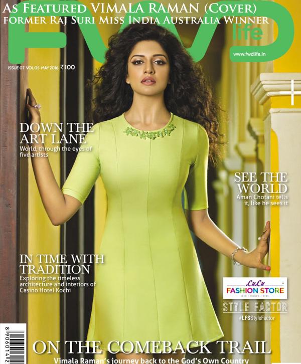 Raj Suri Miss India Australia Vimala Raman FWD Mag