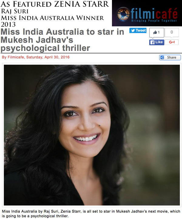 Miss India Australia to star in Mukesh Jadhav's Bollywood film