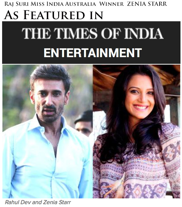 Zenia Starr as featured in Times of India Entertainment