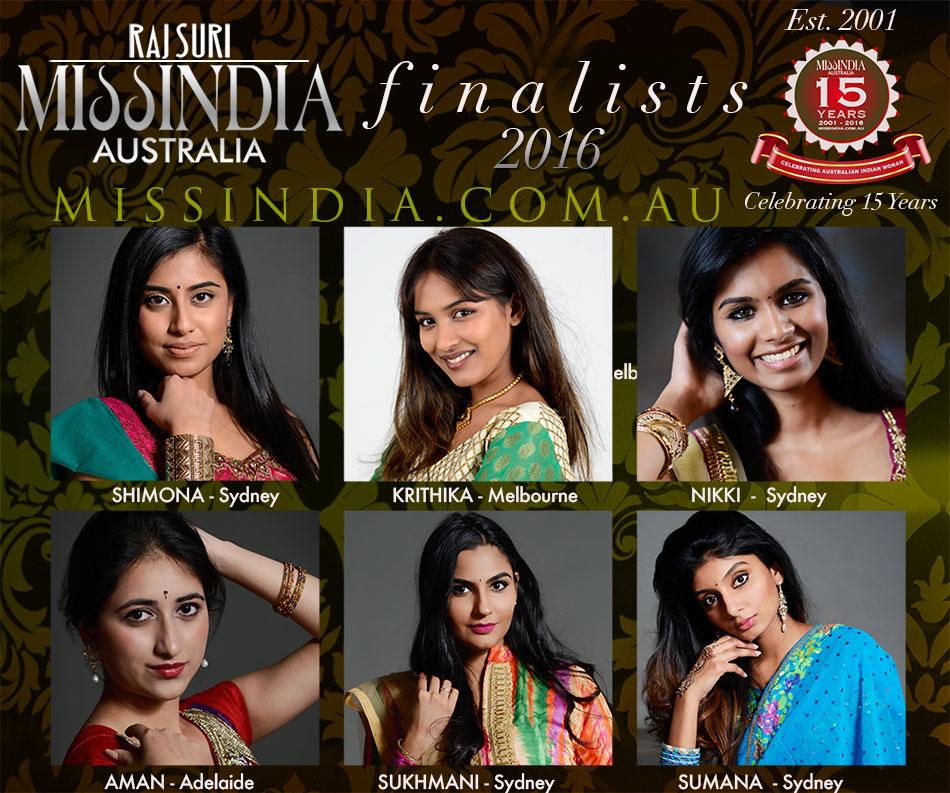 Miss India Australia 2016 Finalists