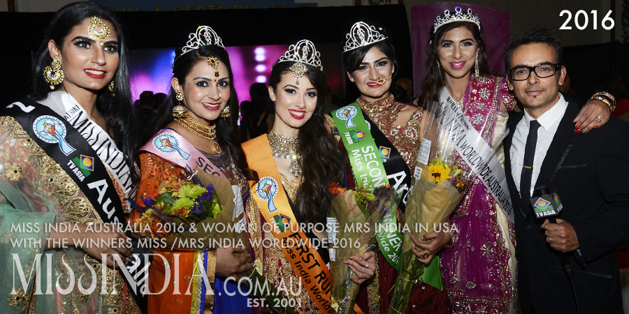 Miss India Australia 2016 winners in USA at the Miss India Worldwide 2016
