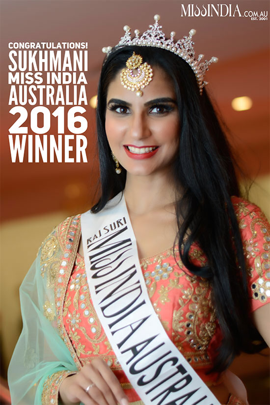 Miss India Australia 2016 Winner Sukhmnai Khaira by Raj Suri in USA