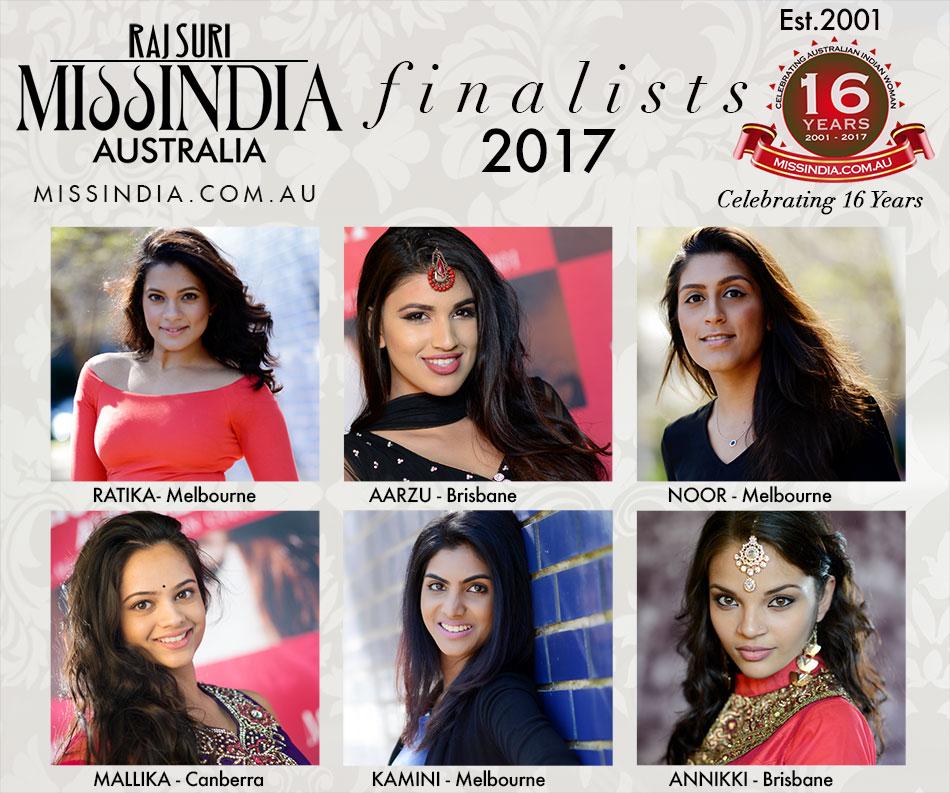 Miss India Australia 2017 Finalists