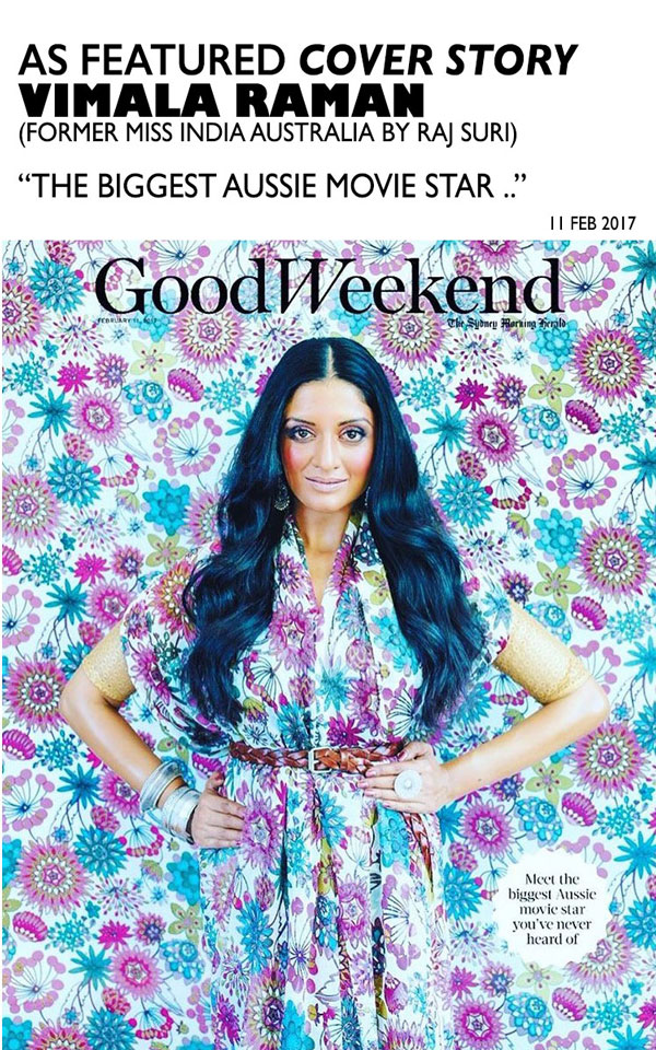 Vimala Raman – former Miss India Australia on the cover of The Good Weekend