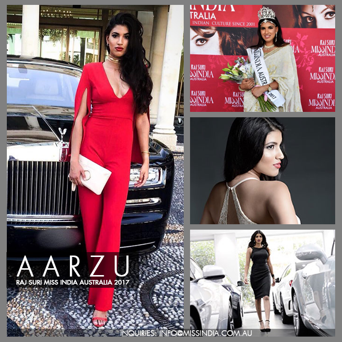 Rising star model Aarzu Singh Miss India Australia 2017