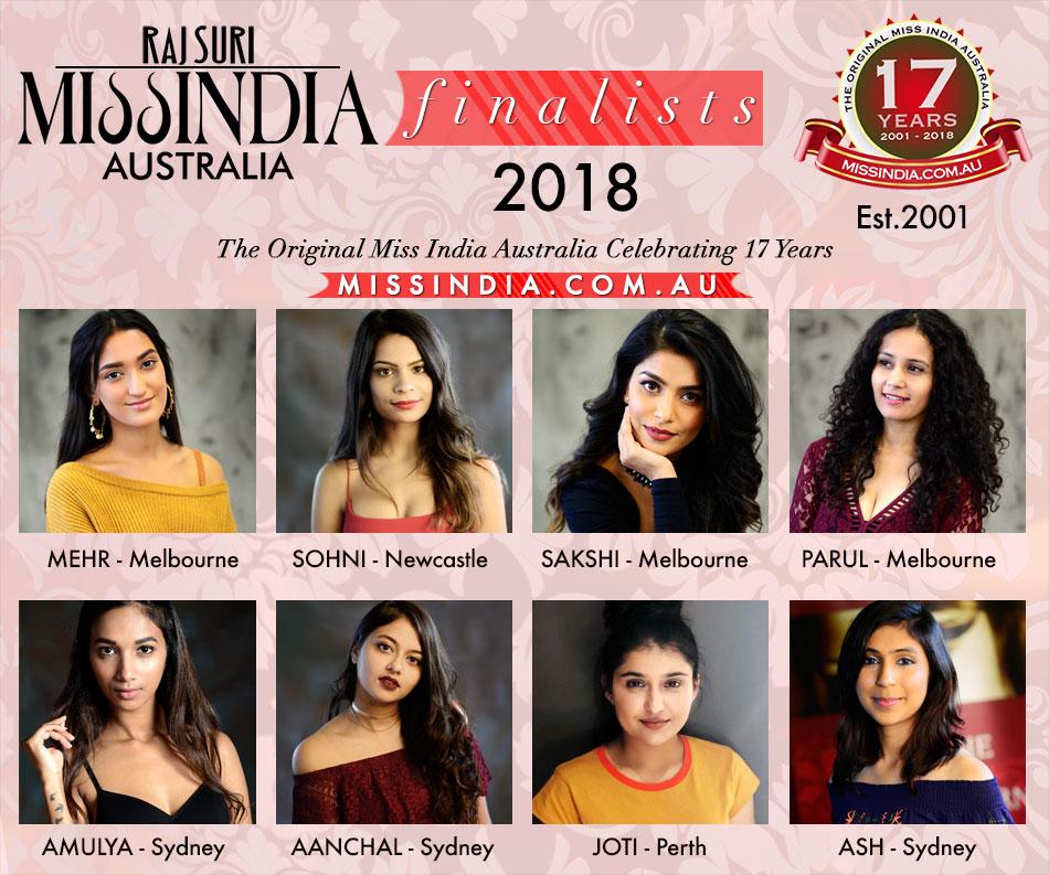 Miss India Australia 2018 Finalists